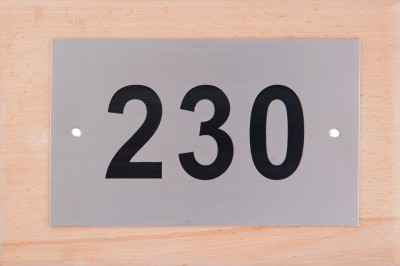 SHREYAS SIGNAGES Steel HOUSE NUMBER PLATE, APPARTMENT NUMBER SIGN, STAINLESS STEEL ETCHING NAME PLATE Name Plate