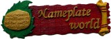 NameplateWorld Wooden Red Bliss Name Pla...
