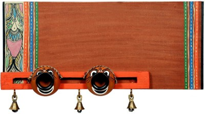 NG Art Ventura Wooden, Terracotta Religious Name Plate(Brown, Multicolor)