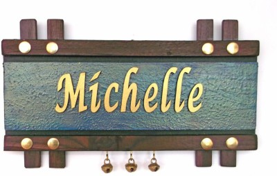 Handworkz Wooden Contemporary Name Plate