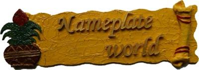 NameplateWorld Wooden Yellow Blossom Name Plate(Yellow)