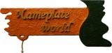 NameplateWorld Wooden Divine Saffron Nam...