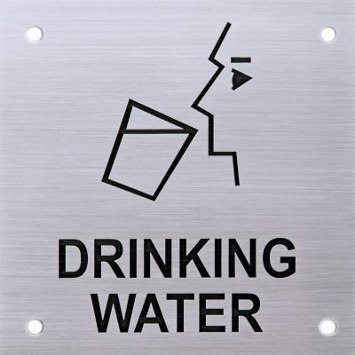 SHREYAS SIGNAGES Steel DRINKING WATER STEEL LOGO, ETCHING SIGN Name Plate(Black)