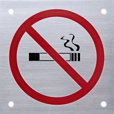 SHREYAS SIGNAGES Steel NO SMOKING LOGO Name Plate(Black, Red)