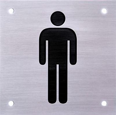SHREYAS SIGNAGES Steel MALE TOILET SIGN Name Plate(Black)