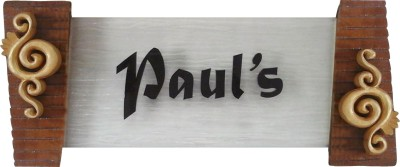 Nameplateswala Wooden Water Glass Effect Name Plate