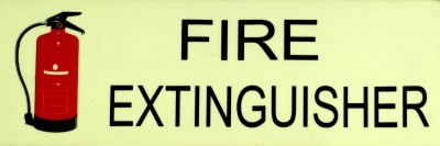 SIGNAGES Plastic FIRE EXTINGUISHER NIGHT GLOW SIGN Name Plate