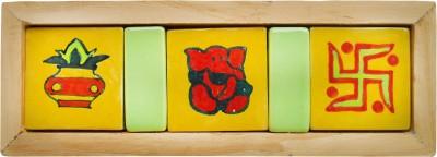 The Nameplate Studio Ceramic Religious Name Plate(Multicolor)