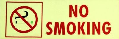 SIGNAGES Plastic NO SMOKING NIGHT GLOW SIGN Name Plate