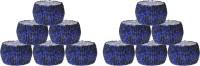 Dakshcraft AB131 Set of 12 Napkin Rings(Blue, Black)