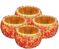 AsiaCraft NAPKINRING007-4 Set of 4 Napkin Rings(Red)