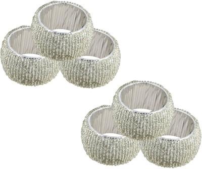 Dakshcraft ACB142 Set of 6 Napkin Rings(Silver)