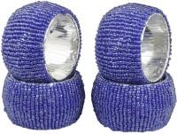 Dakshcraft ACB144 Set of 4 Napkin Rings(Blue)