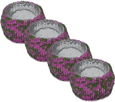 Dakshcraft ACB168 Set of 4 Napkin Rings(Multicolor)