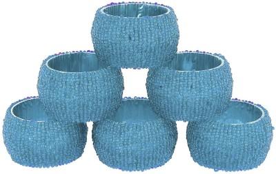 Dakshcraft ACB148 Set of 6 Napkin Rings(Blue)