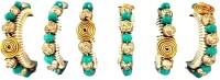 JewelKraft Designs 911 Set of 6 Napkin Rings(TURQUOISE)