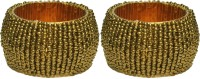 Dakshcraft ACB152 Set of 2 Napkin Rings(Gold)