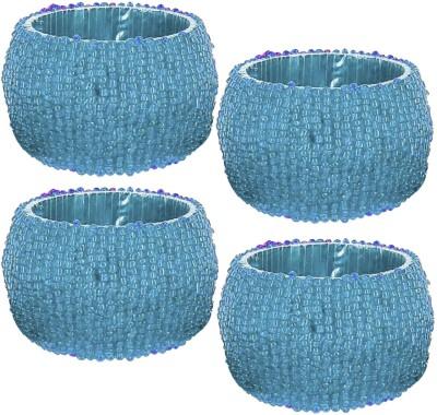 Dakshcraft ACB147 Set of 4 Napkin Rings(Blue)