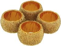 Dakshcraft ACB156 Set of 4 Napkin Rings(Gold)