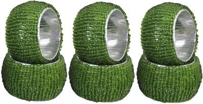 Dakshcraft ACB133 Set of 6 Napkin Rings(Green)