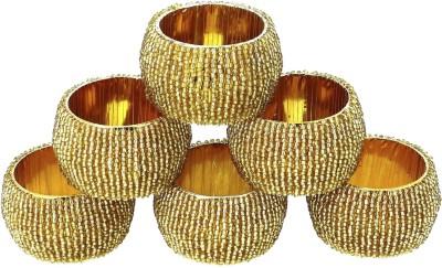 Dakshcraft ACB157 Set of 6 Napkin Rings(Gold)