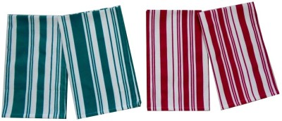 Tidy Green, Red Set of 4 Napkins