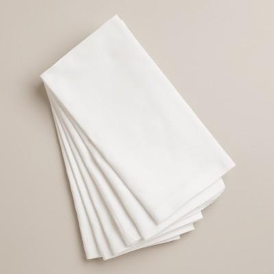 Paras Ent White Set of 6 Napkins