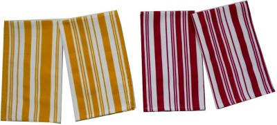 Tidy Yellow, Red Set of 4 Napkins