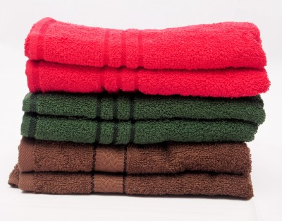 The Home Story Red, Green, Brown Set of 6 Napkins