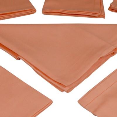 The Fancy Mart Orange Set of 6 Napkins