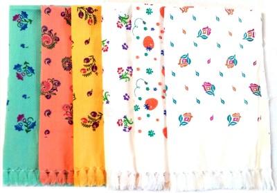 Pristine Hand Towels Multicolor Set of 6 Napkins