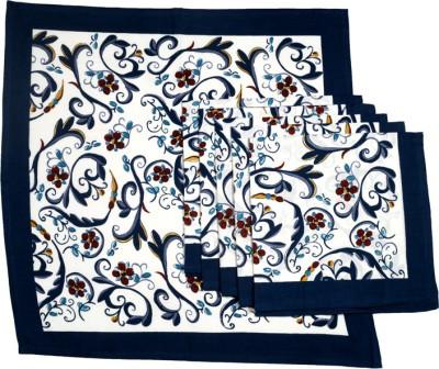 Ocean Collection White, Blue Set of 6 Napkins
