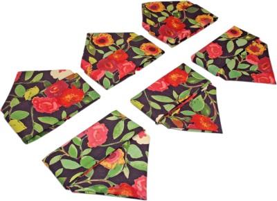 Sriam Multicolor Set of 6 Napkins