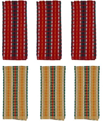 Cotonex Red, Yellow Set of 6 Napkins
