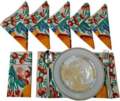 Sriam White Set of 6 Napkins