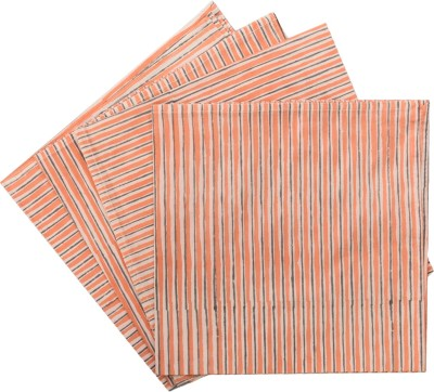 Raaga Textile Orange Set of 4 Napkins