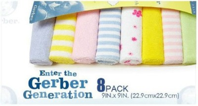 Gerber Multicolor Set of 8 Napkins