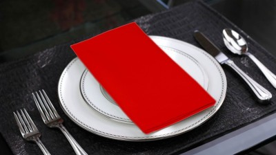 Lushomes Red Set of 6 Napkins