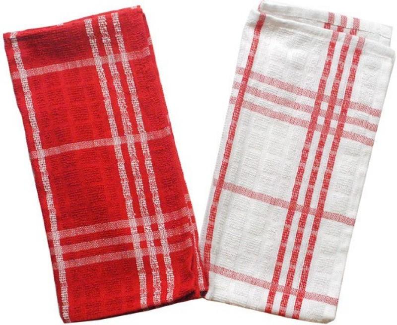 homeland@dreamsunlimited Red&White Set of 2 Napkins