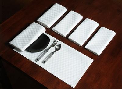 Swayam White Set of 6 Napkins