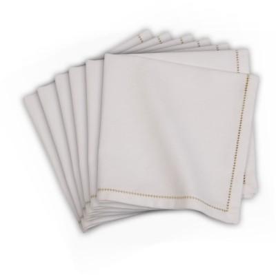 Po Box White Set of 6 Napkins