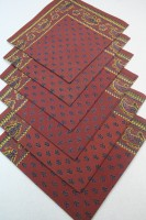 Raghuraj Lifestyle Maroon Set of 6 Napkins