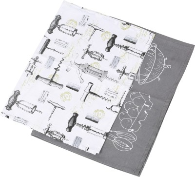 Iris Innovations White, Grey Set of 2 Napkins