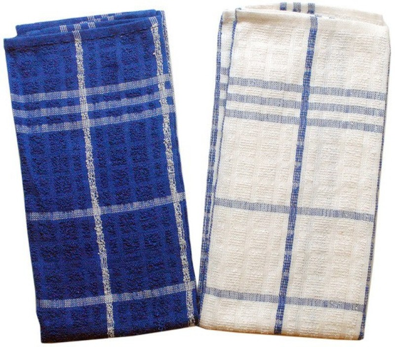 homeland@dreamsunlimited White & Blue Set of 2 Napkins