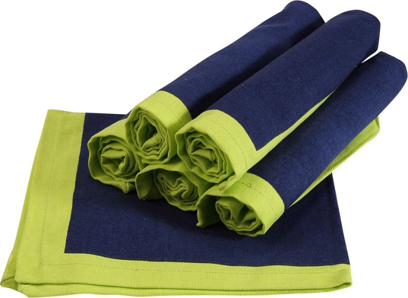 Sanjeev Kapoor Green Set of 6 Napkins