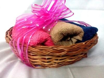Expression Crafts Pink, Blue, Brown Set of 3 Napkins