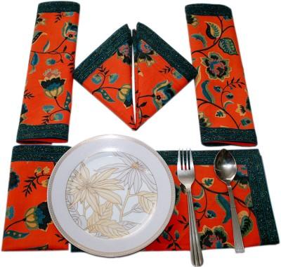 Sriam Orange Set of 6 Napkins