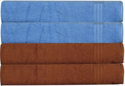 RR Textile House Brown, Light Blue Set of 4 Napkins