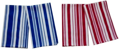 Tidy Blue, Red Set of 4 Napkins