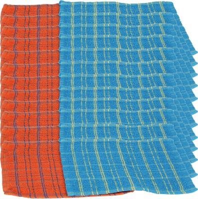 Kurtzy Orange, Blue Set of 24 Napkins